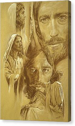 Jesus Canvas Print by Bryan Dechter
