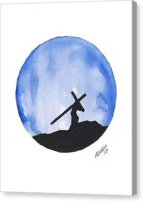 Jesus Carried His Own Cross Canvas Print