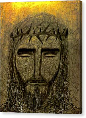 Jesus Christ Icon Canvas Print - Jesus Christ by Nicole  Cris