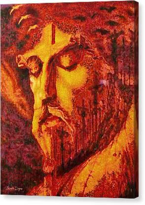 Crucifixion Canvas Print - Jesus Christ - Da by Leonardo Digenio