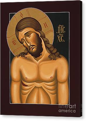 Canvas Print featuring the painting Jesus Christ Extreme Humility 036 by William Hart McNichols