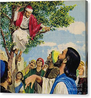 Jesus Christ Forgives A Thief Canvas Print by Clive Uptton