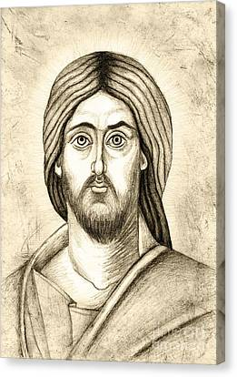 Jesus Christ Icon Canvas Print - Jesus Christ Pantokrator by Joanna Cieslinska