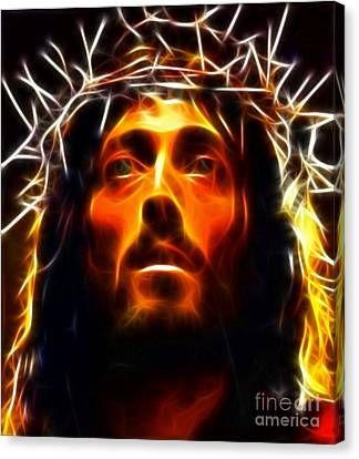 Crucifixion Canvas Print - Jesus Christ The Savior by Pamela Johnson