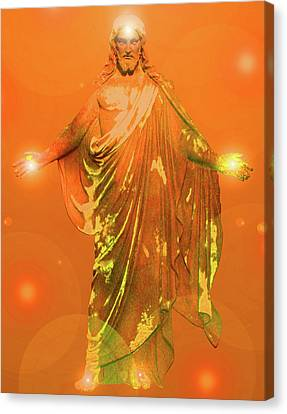 Jesus-energy No. 01 Canvas Print by Ramon Labusch