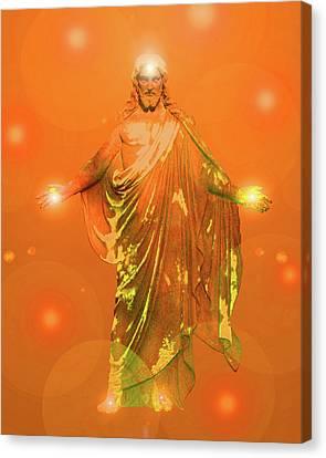 Jesus-energy No. 03 Canvas Print by Ramon Labusch