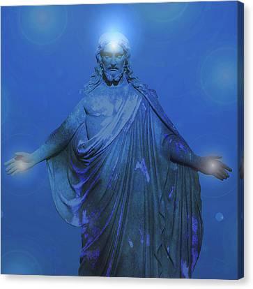 Jesus-energy No. 12 Canvas Print by Ramon Labusch