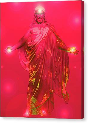 Jesus-energy No. 31 Canvas Print by Ramon Labusch