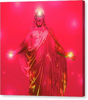 Jesus-energy No. 32 Canvas Print by Ramon Labusch