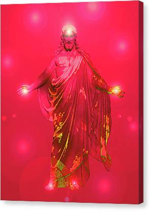 Jesus-energy No. 33 Canvas Print by Ramon Labusch