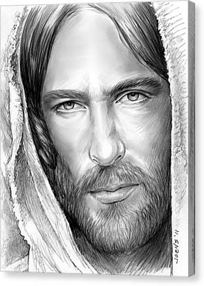 Jesus Face Canvas Print by Greg Joens
