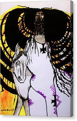 Jesus - Faithful And True Canvas Print by Gloria Ssali