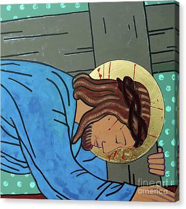 Jesus Falls Canvas Print