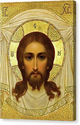 Jesus Christ Icon Canvas Print - Jesus Gold by Munir Alawi