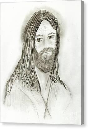 Jesus I Canvas Print by Sonya Chalmers