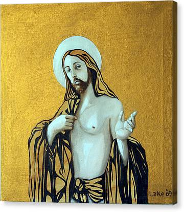 Jesus Icon Canvas Print by Matthew Lake
