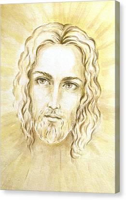 Jesus In Light Canvas Print by Stoyanka Ivanova