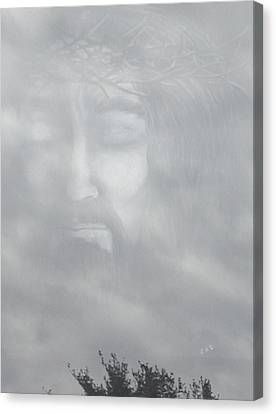 Jesus In The Clouds Canvas Print
