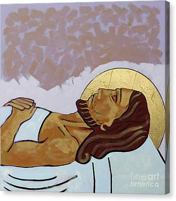 Jesus Is Laid In The Tomb Canvas Print