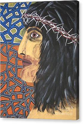 Canvas Print featuring the painting Jesus by Jeffrey Koss