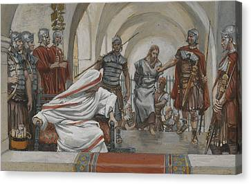 Jesus Led From Herod To Pilate Canvas Print