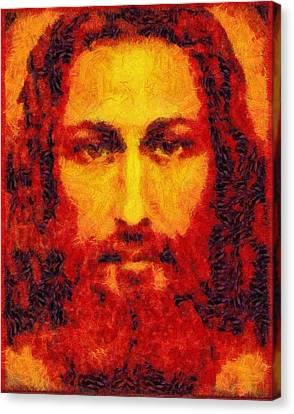 Jesus Light Of The World Canvas Print by Galeria Zullian  Trompiz