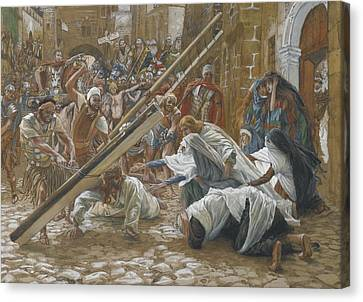 Outstretched Arm Canvas Print - Jesus Meets His Mother by Tissot