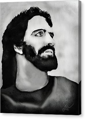 Canvas Print featuring the digital art Jesus by Pennie  McCracken