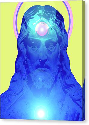 Jesus-portrait No. 04 Canvas Print by Ramon Labusch