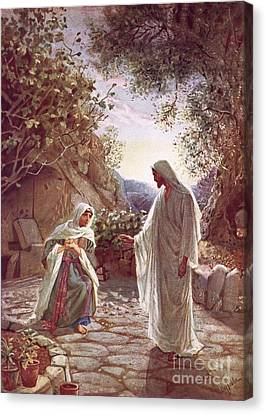 Jesus Revealing Himself To Mary Magdalene Canvas Print by William Brassey Hole