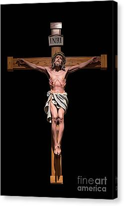 Jesus, Savior Of The World Canvas Print by Bonnie Barry