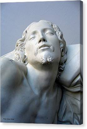 Canvas Print featuring the sculpture Jesus by Suhas Tavkar