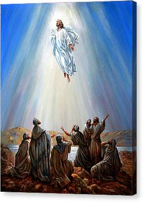 Jesus Taken Up Into Heaven Canvas Print by John Lautermilch