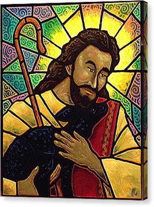Jesus The Good Shepherd Canvas Print by Jim Harris