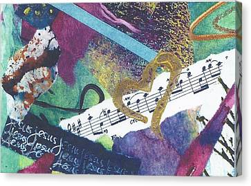 Jesus The Music Of My Heart Canvas Print