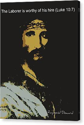 Jesus The Son Canvas Print by Raymond Doward