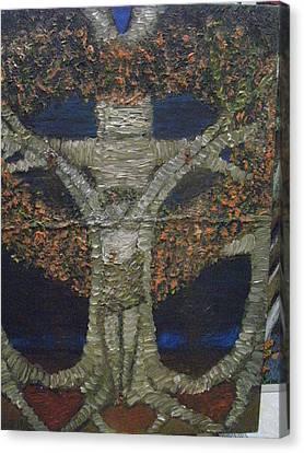 Jesus Tree Canvas Print by Becky Jenney