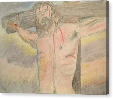 Jesus  Canvas Print by Victoria Hasenauer