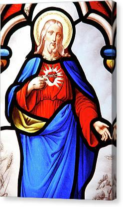 Jesus's Sacred Heart Canvas Print by Unknown