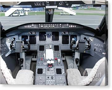 Jet Airplane Cockpit Canvas Print