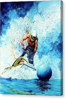 Jet Blue Canvas Print by Hanne Lore Koehler
