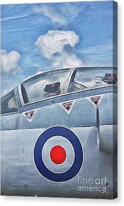 Jet Fighter By John Springfield Canvas Print by John Springfield