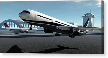 Jet Set Canvas Print - Jet Set by Richard Rizzo