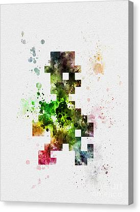 Jet Set Canvas Print - Jet Set Willy by Rebecca Jenkins