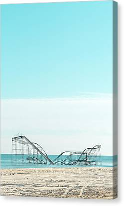 Jet Star In The Sea Canvas Print by Erin Cadigan
