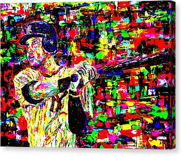Jeter Canvas Print by Mike OBrien