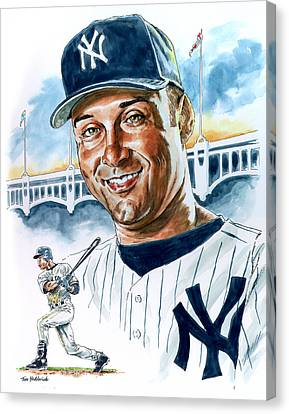 Jeter Canvas Print by Tom Hedderich