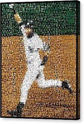 Jeter Walk-off Mosaic Canvas Print by Paul Van Scott