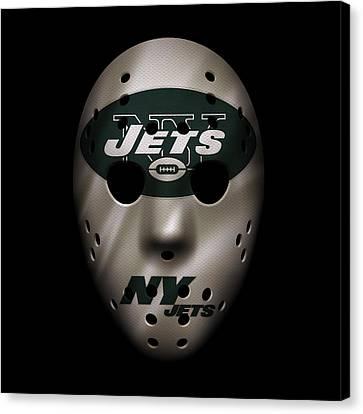 Jets War Mask Canvas Print by Joe Hamilton