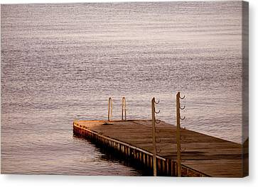 Canvas Print featuring the photograph Jetty At Helleruphavn by Michael Canning